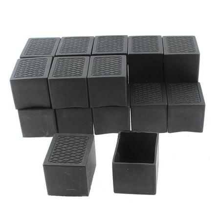 Unique Bargains 20 Pcs Antislip Plastic Rectangle 40mm X 30mm Chair Foot Cover Table Furniture