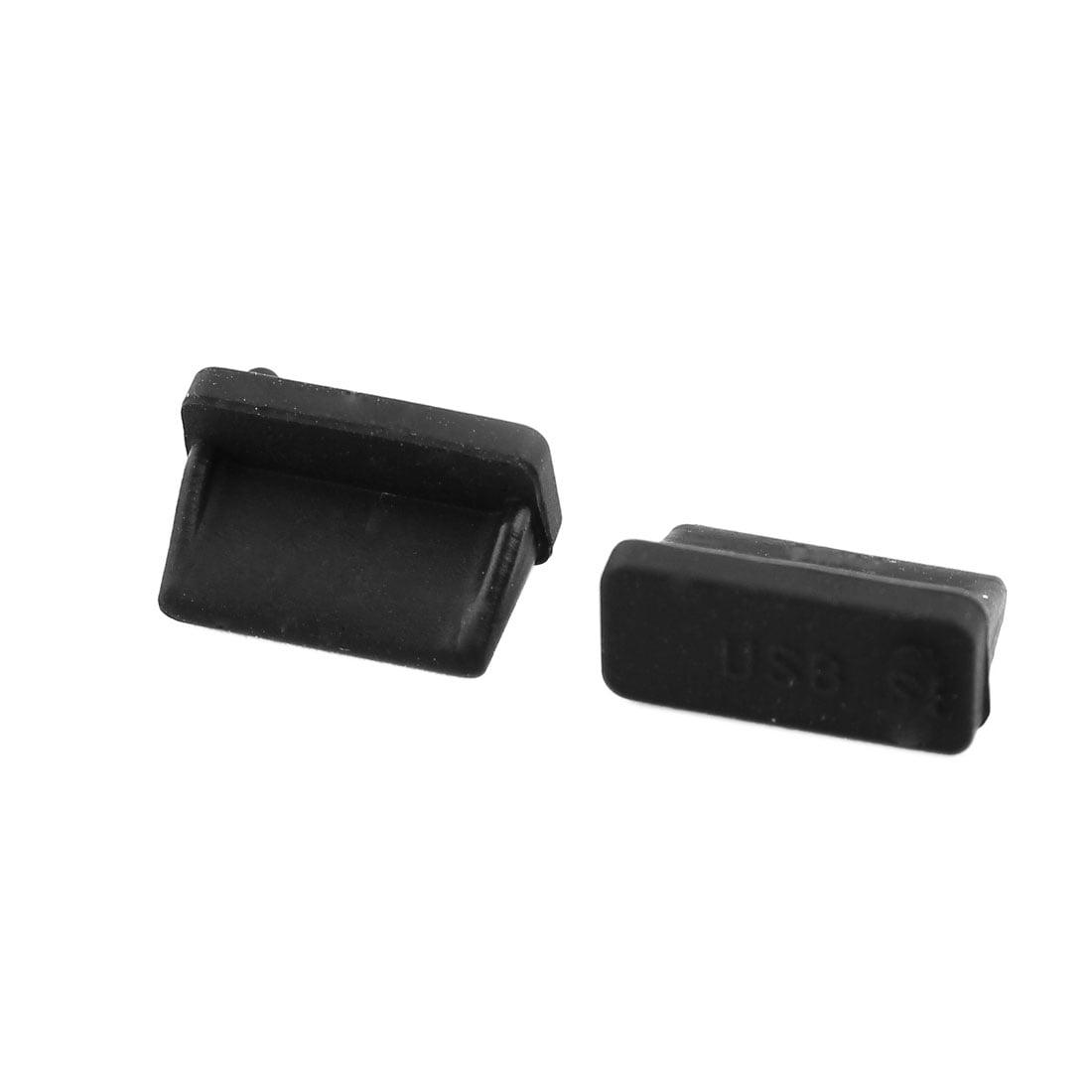 Computer USB 2.0 Female Port Dust Dustproof Cover Cap Protector Black 20 Pcs - image 1 of 3