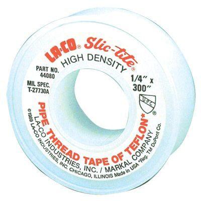 Markal 1'' X 300'' LA-CO Markal SLIC-TITE PTFE Heavy Duty Premium Grade  Pipe Thread Tape