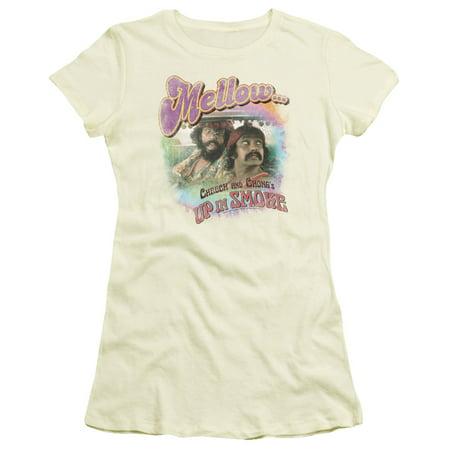 Cheech & Chong Mellow Juniors Short Sleeve Shirt (Cheech And Chong Halloween Girls)