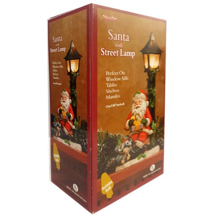 Sienna LLC Santa With Street Lamp Perfect On Window Sills, Tables, Shelves, Mantles](Fall Mantel Decor)