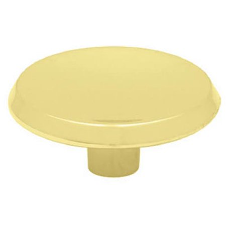 Brainerd Mfg Co/Liberty Hdw P65015H-PB-C Cabinet Knob, Concave Round, Brass-Plated, 1.5-In. - Quantity 12