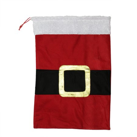 northlight seasonal santa claus belt buckle christmas gift bag sack - Santa Claus Belt