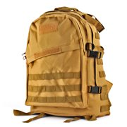 Military Tactical Backpack (Desert Tan) Outdoor Camping Hiking Hunt Trekking Assault Rucksack Travel