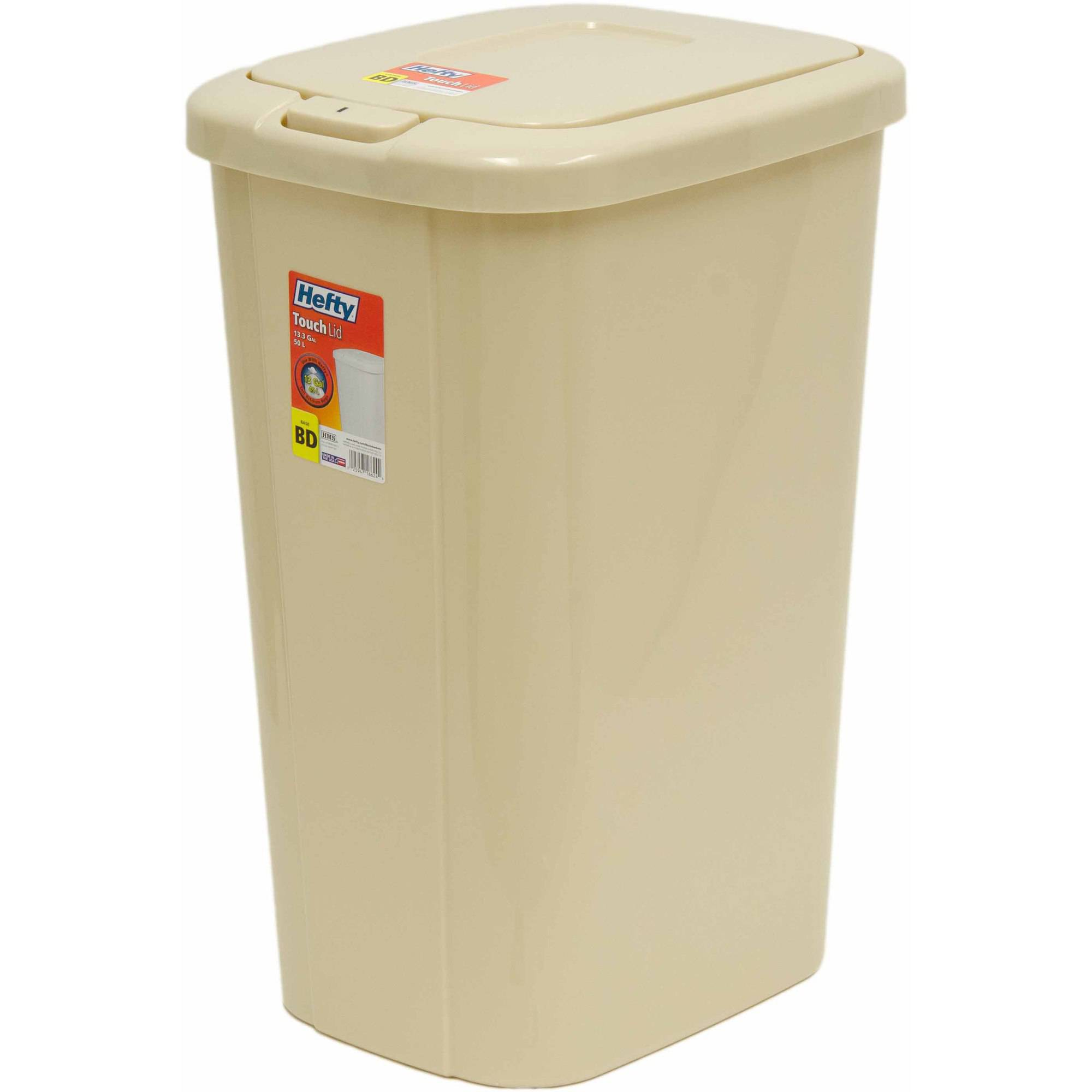 Etonnant Hefty Touch Lid 13.3 Gallon Trash Can, Multiple Colors   Walmart.com