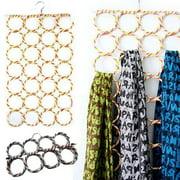 Hot Scarf Hanger Scarves Display Hang Ties Belt Organize Circle Storage Holder