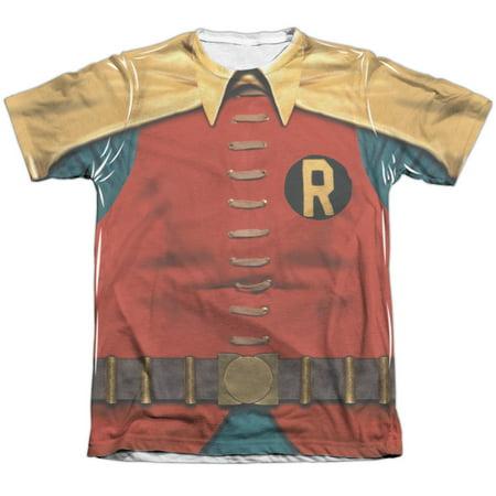 Batman Classic Tv Robin Costume Mens Sublimation Shirt - Batman And Robin Party Decorations