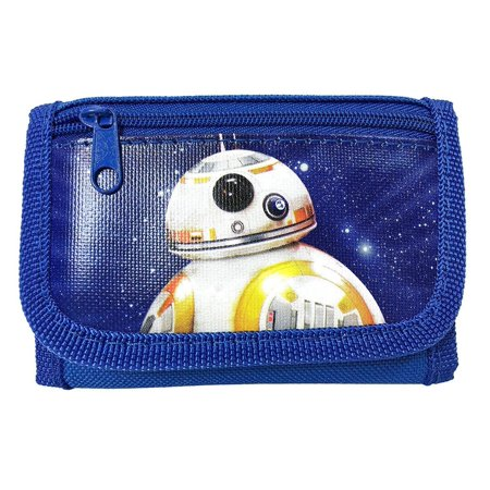 Star Wars BB-8 Kids Tri-Fold Wallet for Boys Royal Blue Robot