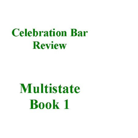 Multistate Bar Review Outlines Book 1 - eBook (Pieper Bar Review)