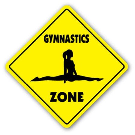GYMNASTICS ZONE Sign novelty gift sport gym award trophy team funny gag gym](Funny Awards)