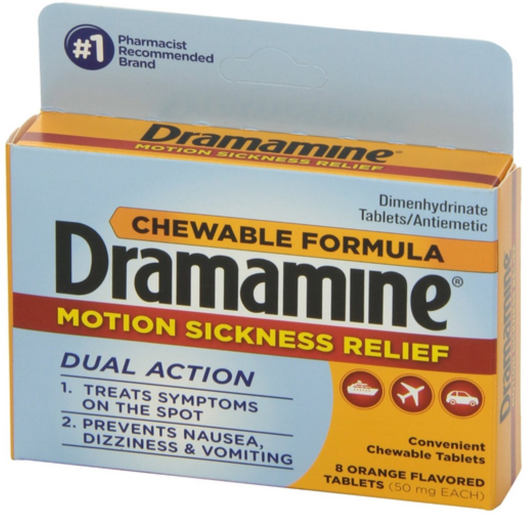 Dramamine Motion Sickness Relief Chewable Tablets 8 ea (Pack of 6)