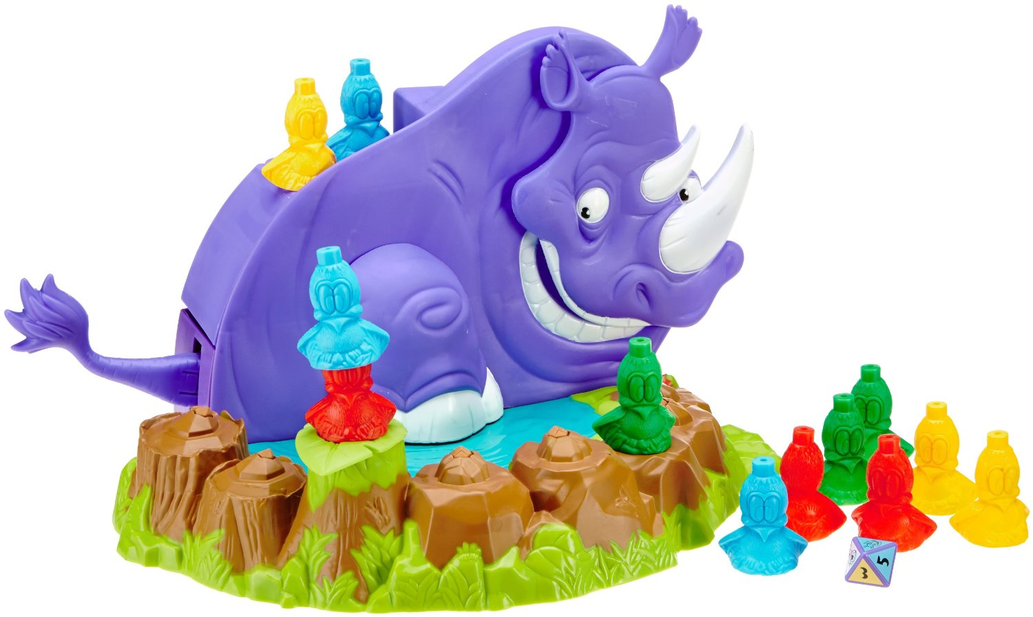 Mattel Rhino Rampage Game He Chomps & Stomps Family Fun by
