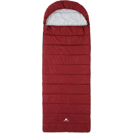 Ozark Trail Cool Weather 40F Synthetic Hooded Sleeping Bag