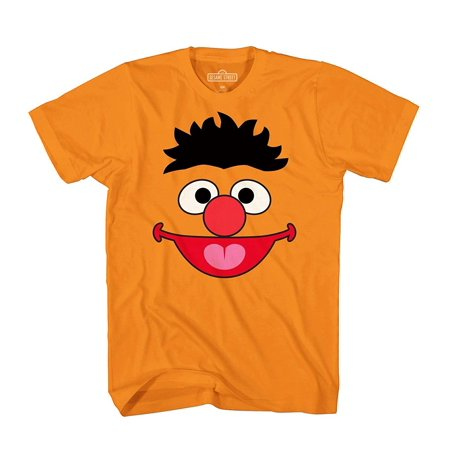 Sesame Street Ernie Face Tee Funny Humor Pun Adult Mens Graphic T-Shirt (Sesame Street The Best Of Ernie And Bert)