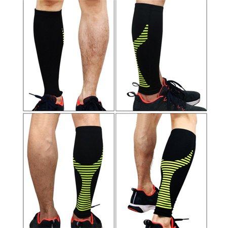 Premium Calf Compression Sleeve 1 Piece Leg Compression Socks for Shin Splint, Calf Pain Relief for Arthritis, Bursitis, Basketball, Baseball, Football, Golf, Lifting, Sports, Men, -