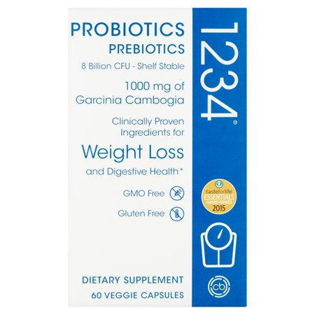 Probiotics Prebiotics 1234 Dietary Supplement Veggie Capsules  60 Count