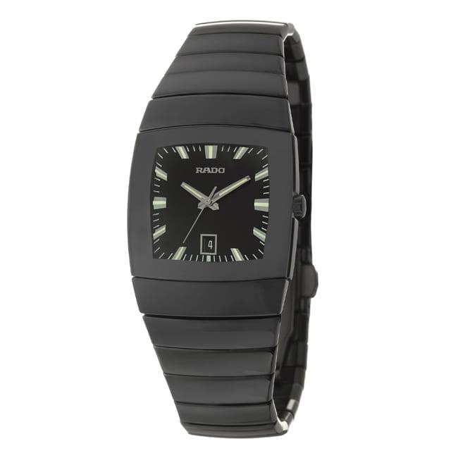 Rado  Women's 'Sintra' Black Ceramic Swiss Quartz Watch