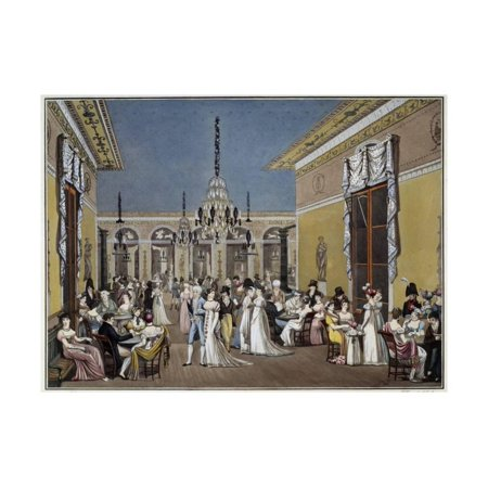 The Grand Salon of the Cafe Frascati - by Philibert-Louis Debucourt Print Wall - Grand Salon Medallion