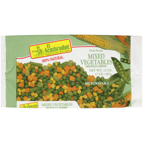 El Sembrador Fresh Frozen Mixed Vegetables, 32 oz