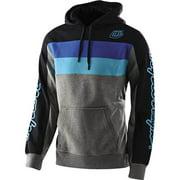 Grey/Black/Blue Sz L Troy Lee Designs Block Signature Hoody