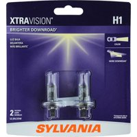 SYLVANIA H1 XtraVision Halogen Headlight Bulb, (Pack of 2)