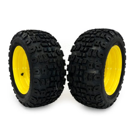 (2) John Deere Front Wheel Assemblies 18x8.50-10 Replaces LVA20123, M139005