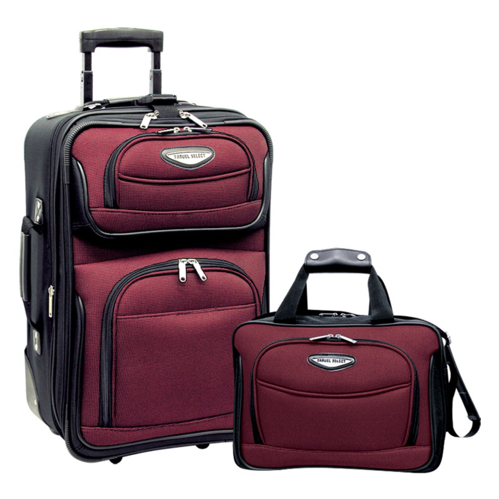 Travelers Choice Travel Select Amsterdam 2-Piece Softshell Upright Rolling Carry-On Set