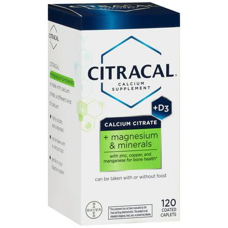 Citracal citrate de calcium + D3 + magnésium et minéraux supplément de calcium, 120 count