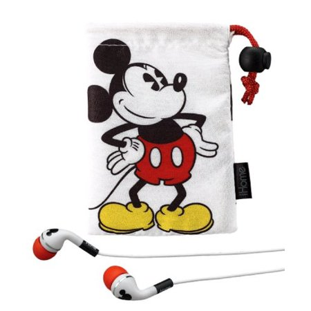 Mickey Mouse Noise Isolating earphones with Travel Pouch, (Di-M15MYv2) - Minnie Mouse Headphones