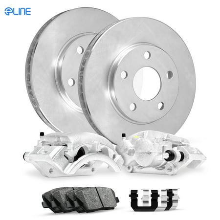 For 2007 Toyota FJ Cruiser Rear Calipers+Brake Rotors+Ceramic Pads+Hardware ()
