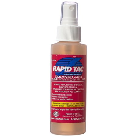 RAPID TAC Application Fluid For Vinyl Wraps Decals Stickers Oz - Custom vinyl decal application fluid recipe