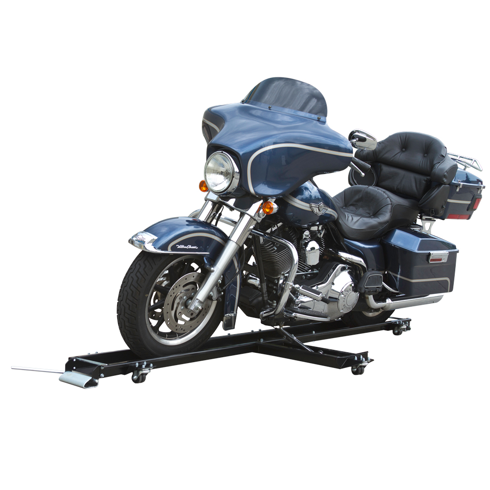 Cruiser Motorcycle Dolly with Built-in Adjustable Kickstand Platform