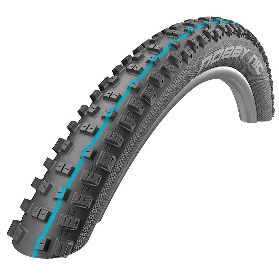 Schwalbe Nobby Nic Tubeless Easy SnakeSkin Tire, 27.5 x 2.35 EVO Folding Bead Black with Addix SpeedGrip Compound