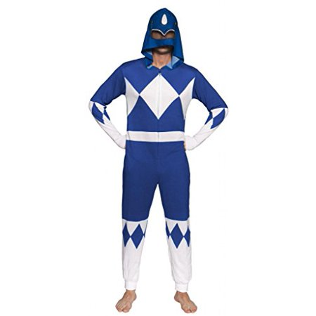 Power Rangers Blue Ranger Adult One Piece Pajama Union Suit (XX-Large)](Power Ranger Adult)