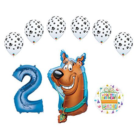 Mayflower Products Scooby Doo 2nd Birthday Party Supplies Balloon Bouquet Decorations (Scooby Doo Decorations)
