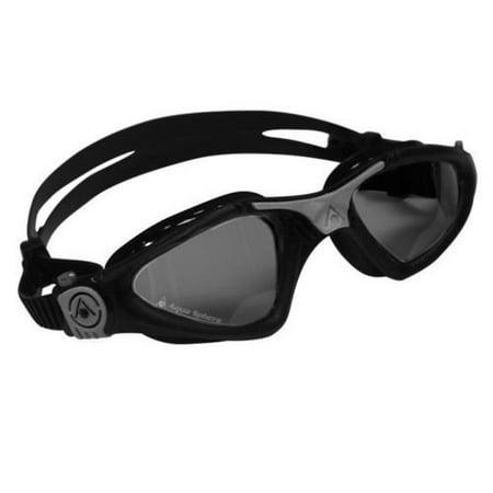 Aqua Sphere Kayenne Smoke Lens Swim Goggles, Black/Silver