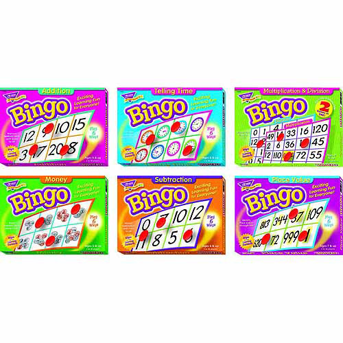 Trend Elementary Math Bingo Game Set, Set of 7