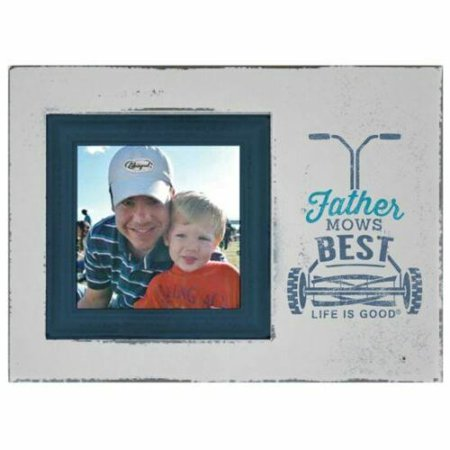 Fathers Day Frames (Father Mows Best Father's Day Decorative Photo Frame Gray Life is)
