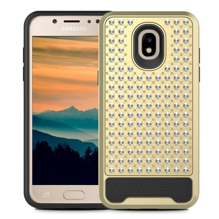 ZV Star Diamond Series Compatible with Samsung Galaxy J7 2018 Case Rhinestone Stitched with Dual Layered Protection J7 Refine J7 Star