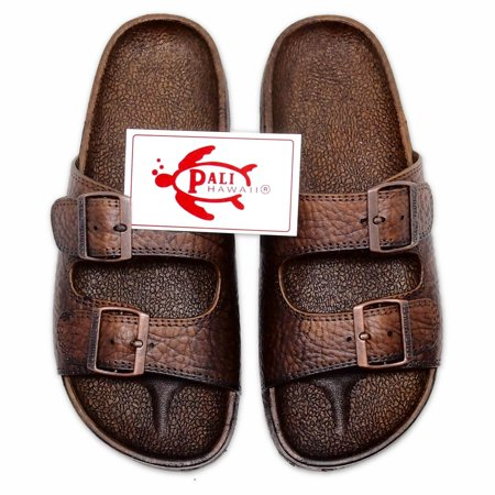 3b9601c15289a0 Pali Hawaii BUCKLE BROWN Jandals with Certificate of Authenticity - Size 7  - Walmart.com