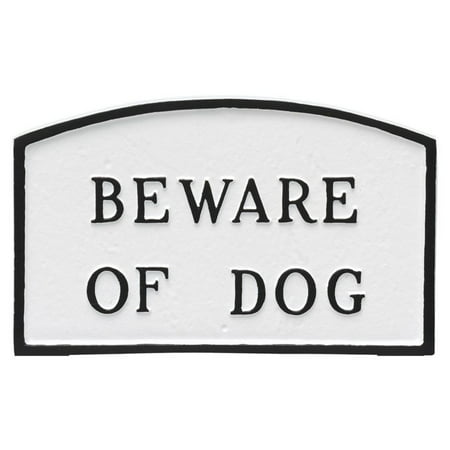 Montague Metal Products Beware of Dog Arched Wall