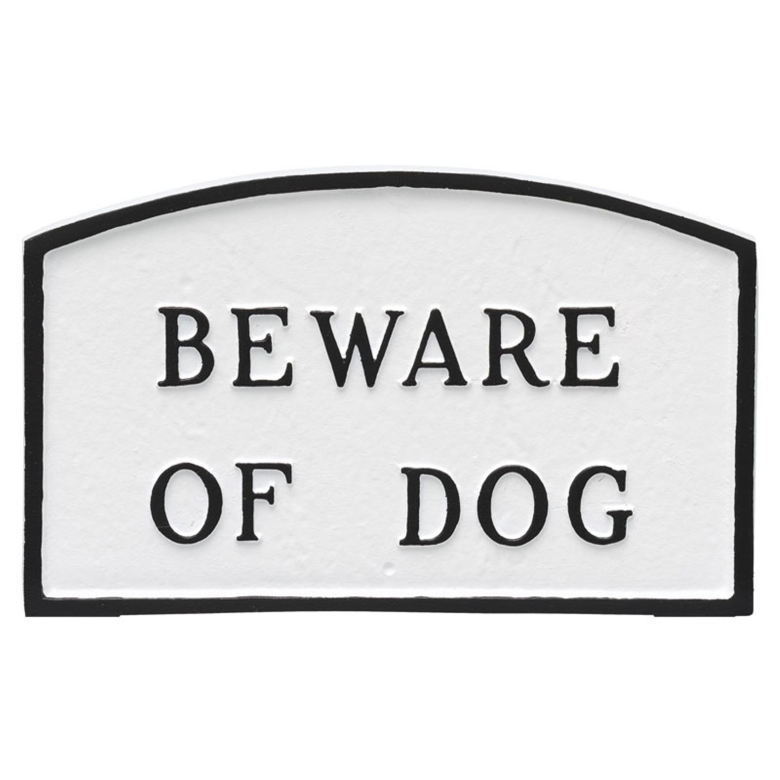 Montague Metal Products Beware of Dog Arched Wall Plaque