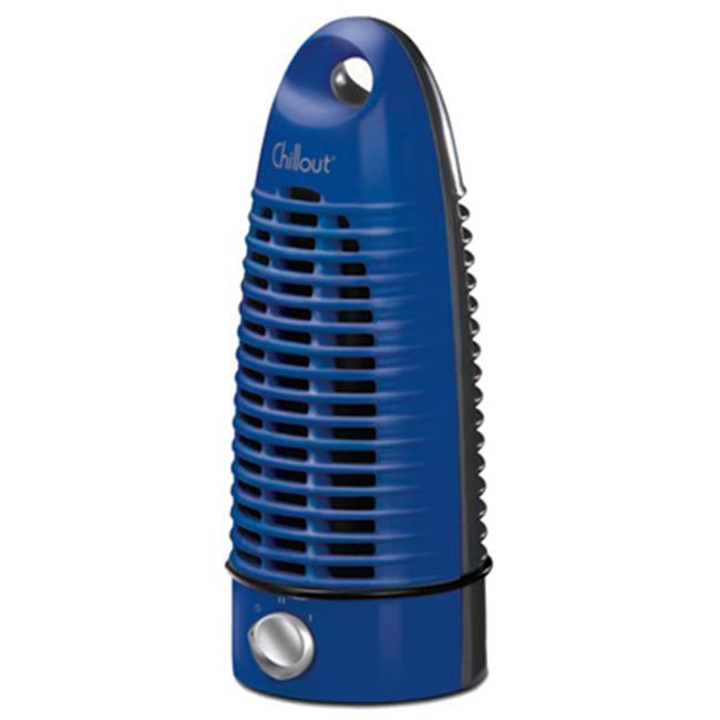 Helen Of Troy Codml GF-7B 2 Speeds Chillout Tower Fan, Blue & Black