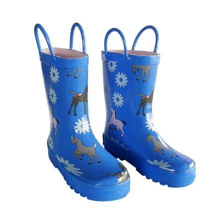 Blue Pony Toddler Boys Girls Rain Boots 5-10