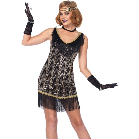Leg Avenue Women's Charleston Flapper Dress 20s Costume - Flapper Dress Outfit