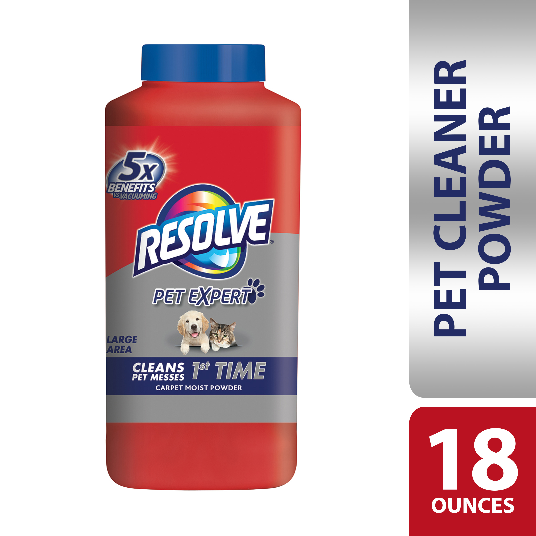Resolve Pet Carpet Cleaner Powder, 18oz Bottle, For Dirt Stain & Odor Removal
