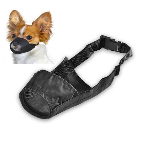 Insten Nylon Dog Muzzle Mouth Grooming No Bark Bite Adjustable Black Size 7.4