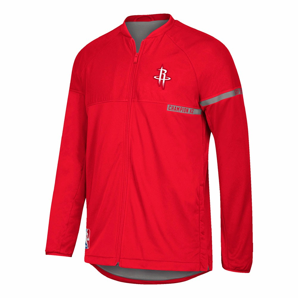 Houston Rockets NBA Adidas Red 2016-17 Authentic On-Court Team Issued Pro Cut Warm Up  Jacket For Men