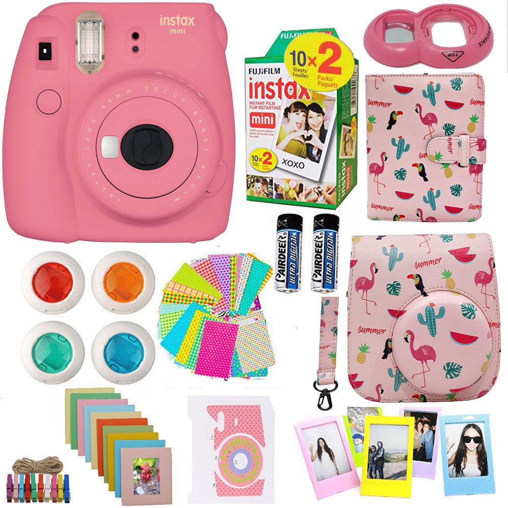Mini 9 Instant Film Camera *DC 10 in 1 Camera Accessories for Instax Mini 8 8