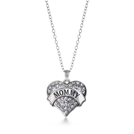Mommy Heart (Mommy Pave Heart Necklace )